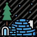 igloo, building, north, pole, eskimo, buildings