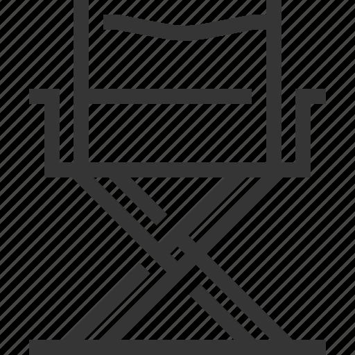 cinema, director chair, entertainment, furniture, movie, video icon