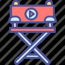 cinema chair, director chair, director seat, furniture, movie director seat