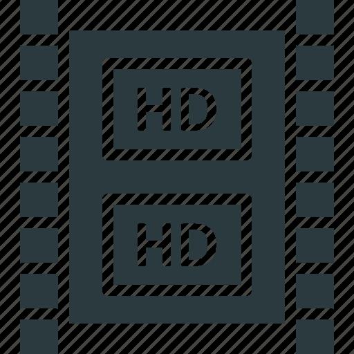 digital video broadcasting, hd film, hd in filmmaking, hd streaming icon