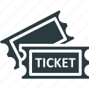 cinema tickets, movie raffle, movie tickets, theater tickets icon
