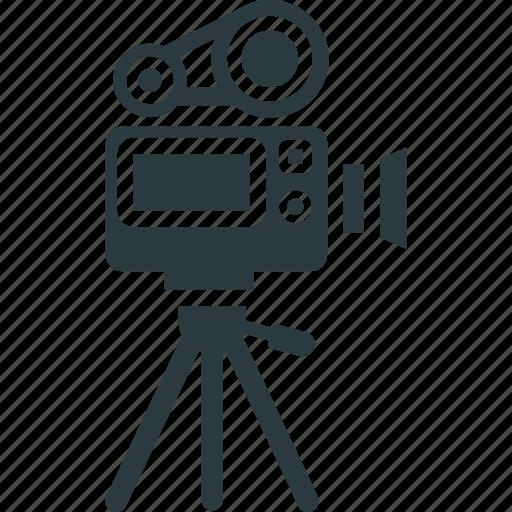 movie camera, professional movie camera, shooting, video camera icon