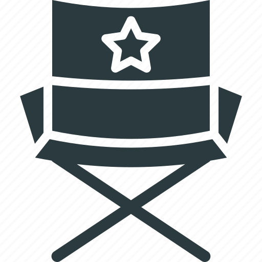 cinema chair, director chair, director seat, furniture icon