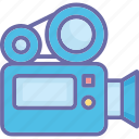 movie camera, professional movie camera, shooting, video camera icon