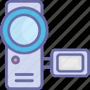 camcorder, camera, handycam, recording icon