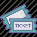 cinema tickets, movie raffle, movie tickets, theater tickets icon