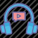 audio, headphones, hear, listen icon