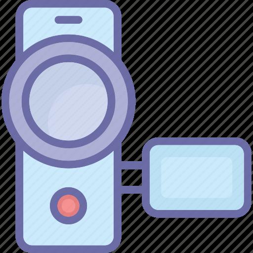 camcorder, digital camera, handycam, recording icon