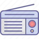 audio broadcasting, fm radio, radio, radio receiver icon