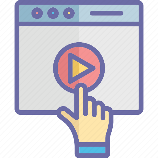 audio play, media play, touch play, video play icon