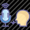 communication sound, voice, voice message, voicemail icon
