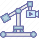 camera crane, crane shot, filmmaking, jib camera icon