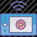 live streaming, media player, multimedia, streaming media icon