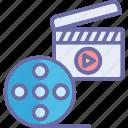 action clapper, cinematography, clapper, clapper board icon