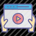 multimedia, film, movie screen, video player