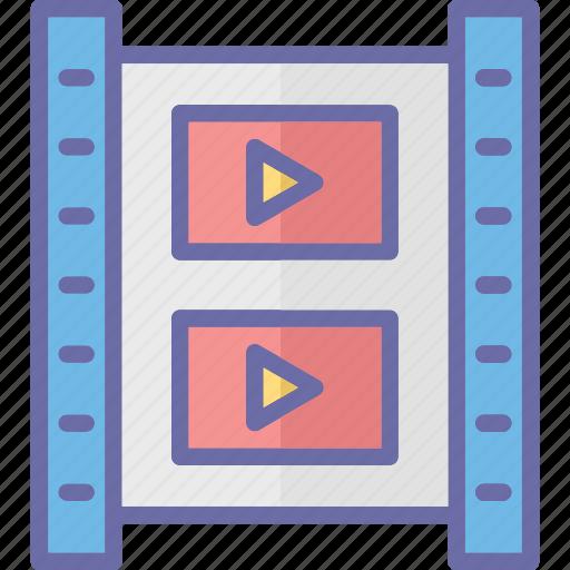 film frame, film strip, movie frame, photographic film icon