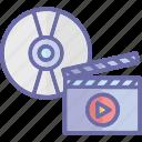 arrangement of video shots, film editing, manipulation of video shots, video editing icon