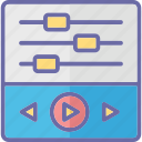 equalizer, music levels, sound frequency, sound waves icon