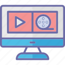 digital cinema, filmmaking, post production, video editing software icon