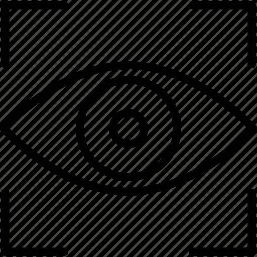 eyesight, focus, imagination, view icon