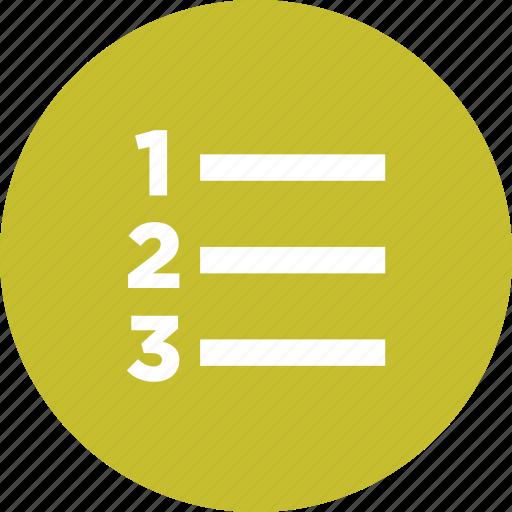 list, menu, options, order, ranking, task, to-do icon