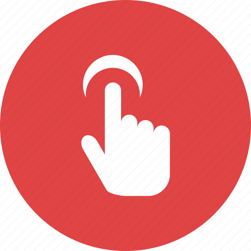 click, finger, gesture, point, push, touch, touchscreen icon