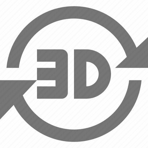 3d, arrows, refresh, reload, sync icon