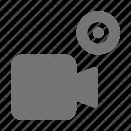 camera, media, movie, record icon