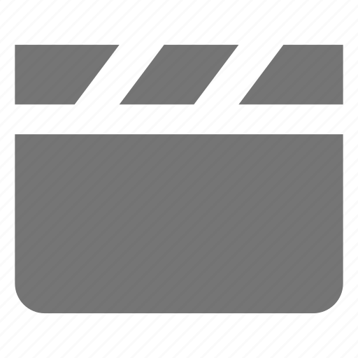 clapboard, media, movie, video icon