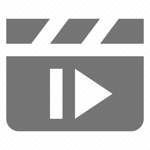 clapboard, media, next, skip icon