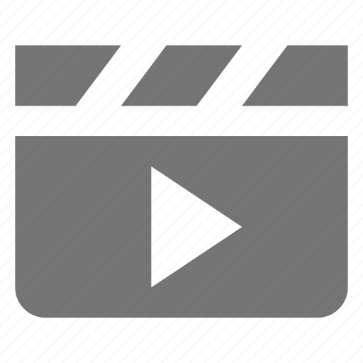 clapboard, media, movie, play, video icon