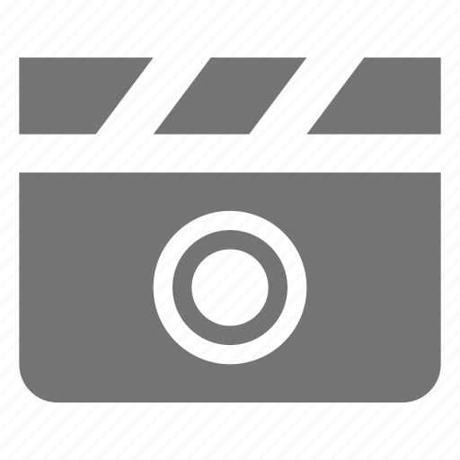 clapboard, media, movie, record, video icon