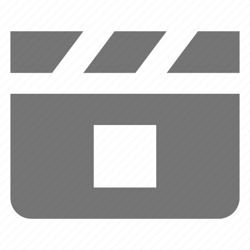 clapboard, media, movie, stop, video icon