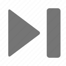media, next, skip icon