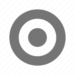 bullseye, record icon