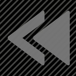 media, previous, rewind icon