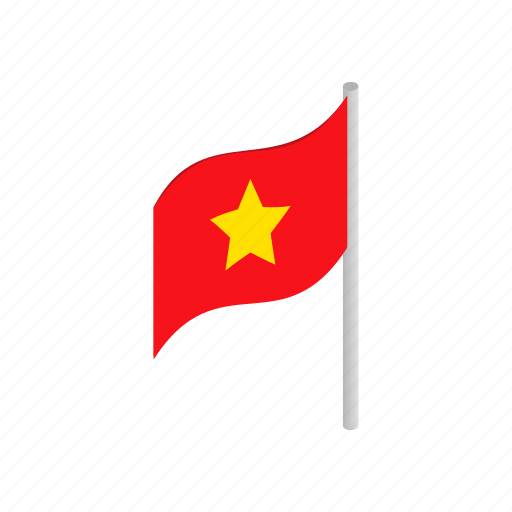 country, flag, isometric, nation, national, patriotism, vietnam icon