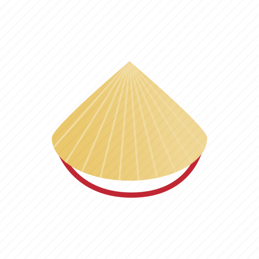 asian, conical, hat, isometric, straw, traditional, vietnam icon