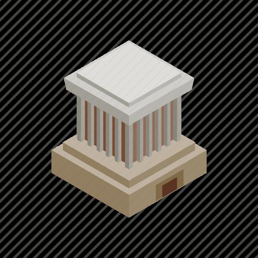Minh, isometric, chi, travel, vietnam, ho, mausoleum icon