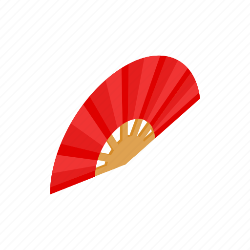 asian, fan, isometric, japanese, red, traditional, vietnam icon