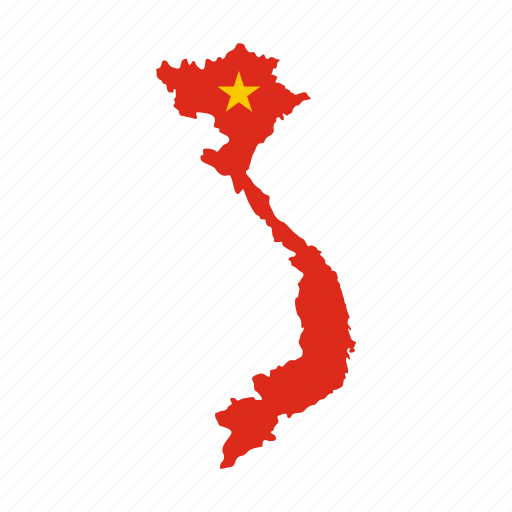asia, country, geography, graphic, map, travel, vietnam icon
