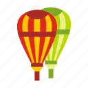 air, balloons, basket, cloud, fun, hot, sky icon