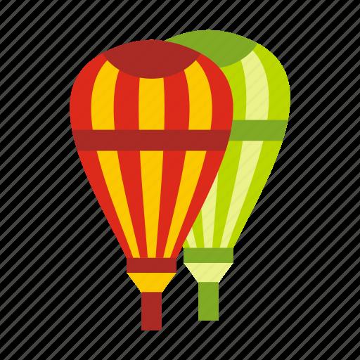 air, balloons, basket, cloud, fun, hot, sky icon
