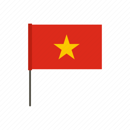 asia, banner, country, flag, nation, national, vietnam icon