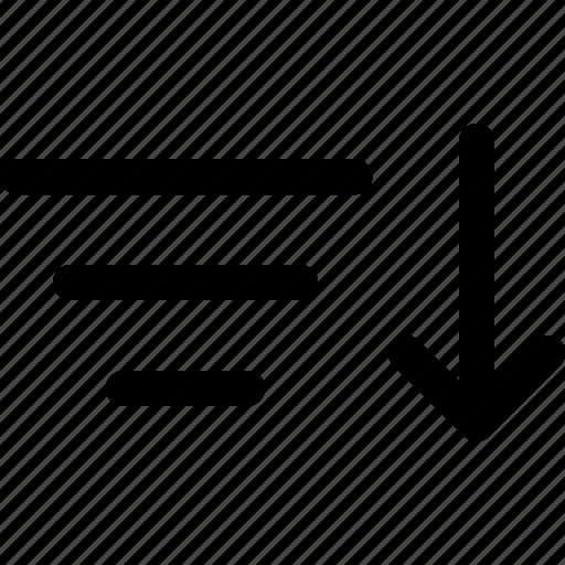 arrange, filter, order, sort, sorting icon