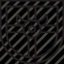 barbarian, guard, shield, viking icon