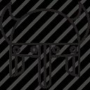 barbarian, helmet, medieval, viking icon
