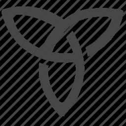 celtic, emblem, knot, shape, sign, trinity, viking icon