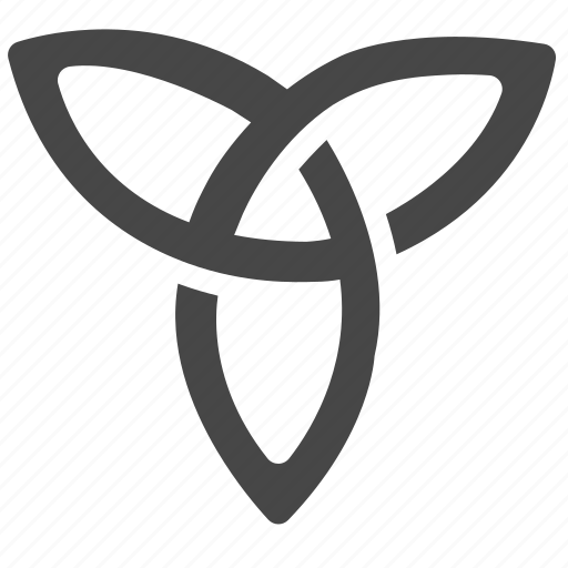 Viking Celtic Emblem Sign Knot Trinity Shape Icon