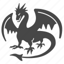 ancient, dragon, fantasy, medieval, monster, mythology, villian icon